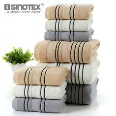 3-Piece Striped 100% Cotton Towel Set One Piece 70*140cm Bath Towel Two Pieces 34*74cm Face Towels Soft Towel Set Home Textile
