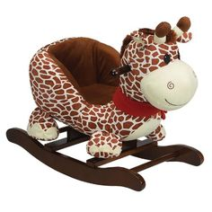 http://allabouttoys.net/charm-company-gerry-giraffe-rocker/ - Soft and furry your little one will just love this precious rocking animal. This rocker will capture your child's hear...