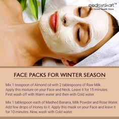 #Medisys #FitTips :- #FacePacks for #winter Season