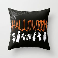 Halloween - Holiday Series Throw Pillow by Urlaub Photography