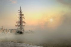 The Sedov, one of the largest sailing ships in the world, in Saint Petersburg, Russia Life In Russia, Peter The Great, Petersburg Russia, Saint Petersburg, Photo Series, Tall Ships, Landscape Photos, Beautiful World, Beautiful Sky