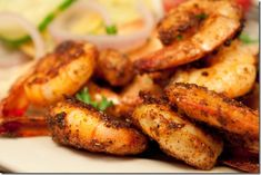 Grilled spicy brown sugar cayenne shrimp..the name is a mouthful, but it makes me want them in my mouth! ha..