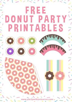 Free donut printables to use at your next party. These yummy printables will have your event looking absolutely amazing. #donuts #donutprintables #donutparty #doughnutparty #freeprintables