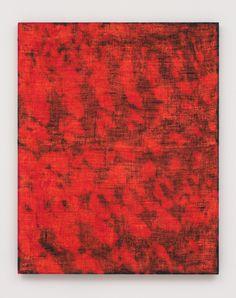 Porosity (Saccadic), 2014 Acrylic, dye and burlap 60 x 48 in (152.4 x 121.92cm)