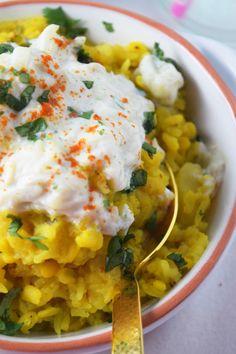 "One Pot ""Veggie"" Lentils & Rice With Cucumber Yogurt"