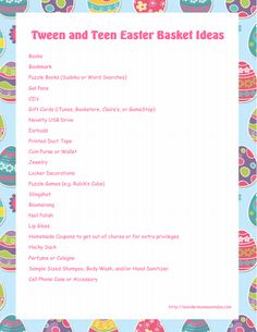 Elementary school easter basket ideas easter pinterest basket similar ideas more information tween and teen easter basket ideas negle Images