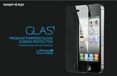 SPIGEN SGP iPhone 4 / 4S Screen Protector GLAS.t Premium Tempered Glass Series