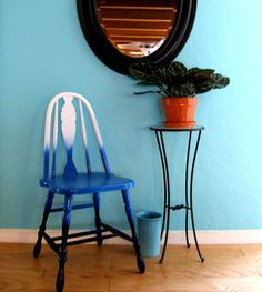 Ombre painted chair