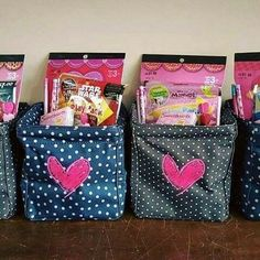 Valentines idea for the kids. Get a little carry all caddy (personalize to make it extra special) and fill with small little gifts. Or hugs and kisses.   www.mythirtyone.ca/kpinkerton