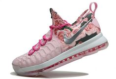 Nike Zoom KD 9 Mens Basketball Shoes Pink1