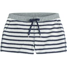 T by Alexander Wang Striped Cotton Shorts ($155) ❤ liked on Polyvore featuring shorts, bottoms, pajamas, pants, stripes, relaxed fit shorts, stripe shorts, drawstring shorts, hot shorts and slim shorts