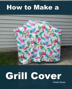 How to make a quick and easy replacement gas BBQ grill cover Outdoor Tablecloth, Vinyl Tablecloth, Outdoor Fabric, Outdoor Decor, Gas Bbq, Bbq Gas Grills, Gas Grill Covers, Canvas Drop Cloths, Diy Grill