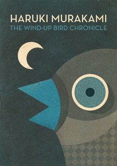 "Book Cover Design: ""The Wind-Up Bird Chronicle"" - Haruki Murakami book cover Cover by Alvin Lustig. Best Book Covers, Beautiful Book Covers, Book Cover Art, Book Cover Design, Book Design, Book Art, Haruki Murakami, Books To Read, My Books"