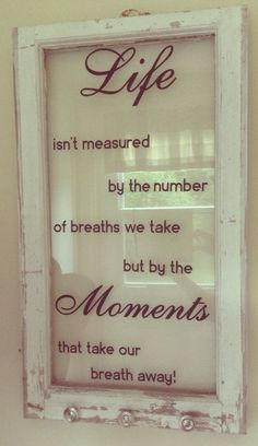old window with quote.