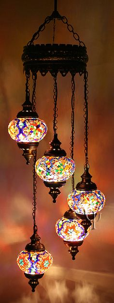 Mosaic Chandelier * These are beautiful *