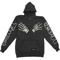 Misfits Men's Full Zippered Hooded Sweatshirt X-Large Black Punk Outfits, Grunge Outfits, New Outfits, Cool Outfits, Fashion Outfits, Hooded Sweatshirts, Hoodies, 2000s Fashion, Clothing Items