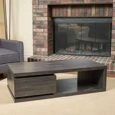 With its rotatable storage drawer underneath, this table is multi-functional and unique. Make a statement in your home with the Fulton rectangular rotating wood coffee table. Coffee Table Kitchen, Buy Coffee Table, Unique Coffee Table, Coffee Table Styling, Contemporary Coffee Table, Coffee Table With Storage, Coffee Table Design, Kitchen Dining, Table Storage