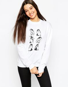ASOS - Sweat motif pingouin esquissé