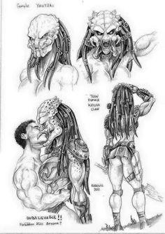 Female Yautja study by Dracowhip on DeviantArt Female Monster, Monster Art, Female Yautja, Monster Girl Encyclopedia, Arte Alien, Predator Alien, Alien Girl, Alien Concept Art, Fan Art
