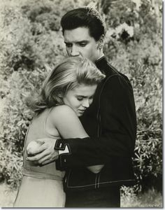 "Elvis Presley and Ann-Margret on the set of ""Viva Las Vegas"" (1964). Description from pinterest.com. I searched for this on bing.com/images"