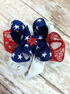 Perfect bow for the 4th of July
