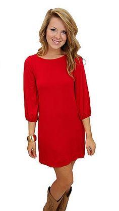 Valentines Day Dress?!  Basic Boatneck Tunic, Red  #shopbluedoor