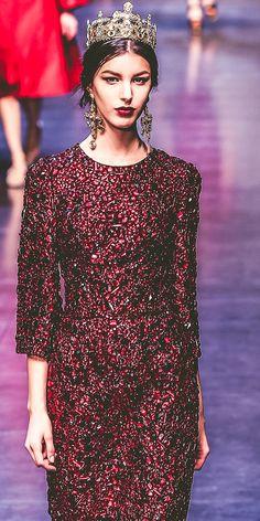 Versace Haute Couture. REPIN your favorite jewel-tone looks! We're pinning with #AllureMagazine x #RentTheRunway