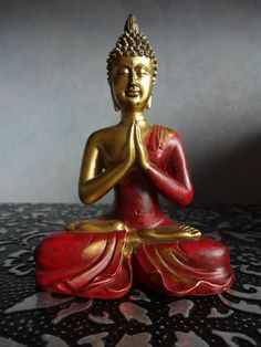 """""""One of the truest signs of maturity is the ability to disagree with someone while still remaining respectful."""" ~ Dave Willis Buddha, by Monica lis Lotus Buddha, Art Buddha, Buddha Statues, Gautama Buddha, Buddha Buddhism, Buda Zen, Buddhist Shrine, Buddhist Practices, Fairy Statues"""