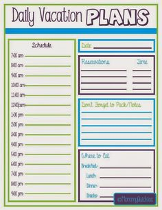 Vacation Planner Printables  Vacation Planner Breeze And Planners