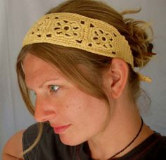 Crochet Patterns Headband Used this pattern for my green bamboo headband - Free Crochet Headband pattern b. Diy Crochet Headband, Diy Headband, Crochet Lace, Free Crochet, Ravelry Crochet, Crocheted Hats, Summer Headbands, Lace Headbands, Crochet Hair Accessories