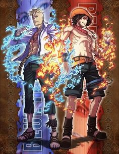 Marco the Phoenix and Portgas D. Ace #one piece