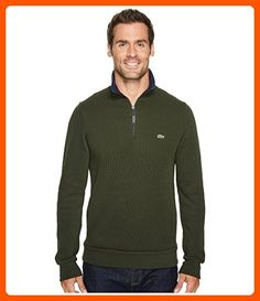 Lacoste Men's Rib Interlock 1/2 Zip, Sherwood/Navy Blue, 7 - Mens world (*Amazon Partner-Link)