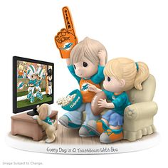 Every Day Is A Touchdown With You Dolphins Figurine