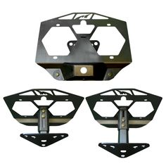 The Motobilt Jeep JL Spare Tire Relocation Bracket Kit With Camera Mount is used to relocate your license plate and back up camera to the center of your spare tire. The Jeep JL factory tag mount is located on the bumper and is subject to damange and has to be relocated if your running an aftermarket bumper. The kit i