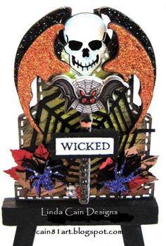 FRIENDS in ART: WICKED Gothic Tombstone with @Retro Café Art Gallery