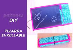 PATRONES DIY: TUTORIAL PIZARRA ENROLLABLE