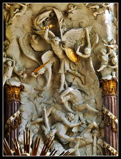 Part of the dramatic sculpture behind the altar of St Michael church in Vienna, Austria Copyright: Vincent Morand