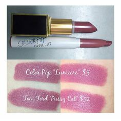WOW! Look at that $5 Colour Pop Dupe for the $52 Tom Ford Lipstick!