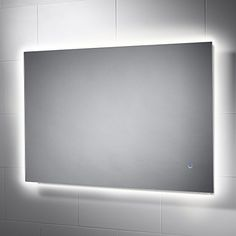 Pebble Grey Bathroom Mirror with lights - Dakota - 600 x 900 mm LED Illuminated Bathroom Mirror Rated] Backlit Wall Mounted Mirror with Touch Sensor Switch Backlit Mirror, Led Mirror, Wall Mounted Mirror, Mirror With Lights, Grey Bathroom Mirrors, Glass Bathroom, Large Bathrooms, Grey Bathrooms, Illuminated Mirrors