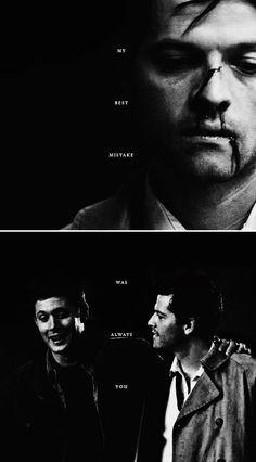 Dean + Castiel: my best mistake was always y o u . #spn #destiel