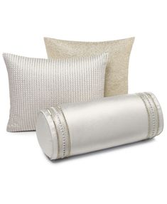 Hotel Collection CLOSEOUT! Ivory Luxe Border Bedding Collection, Created for Macy's & Reviews - Bedding Collections - Bed & Bath - Macy's Ivory Bedding, Textured Bedding, Border Embroidery, Metallic Yarn, Queen Duvet, Bed Linens, My New Room, Bedding Collections