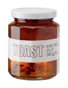 Rose petal jelly. #toast #packaging