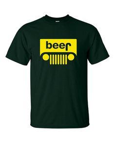 jeep parody beer drinking  tshirt!