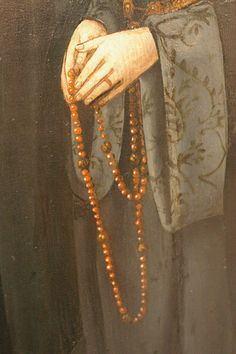 An early Rosary variant from Trier Rosary Beads, Prayer Beads, Common Prayer, Sign Of The Cross, Commonplace Book, Landsknecht, Renaissance Paintings, Holy Mary, Madonna And Child
