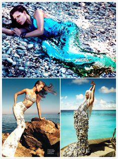 Flare Canada, Vogue Spain & Vogue brazil fashion shots #mermaid #KendraScott