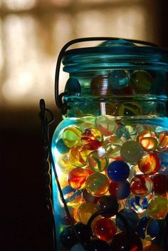 Round Marbles that glow...how cool