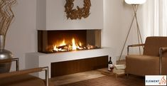European Design Fireplaces - Linear contemporary 3 sided Direct vent three side, three sided 3 side, modern, clean lines, minimalist, gas fireplace