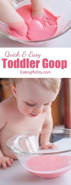 Kids of all ages love making and playing with this easy goo recipe moms love that it s completely safe for even the youngest toddlers! from eatingrichly com sticker eggs an easy easter craft your toddler will love Indoor Activities, Craft Activities For Kids, Infant Activities, Family Activities, Craft Ideas, Sensory Activities Toddlers, Summer Activities, Toddler Play, Toddler Learning