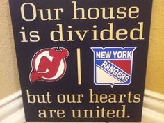 Personalized NHL House Divided Sign Any Hockey by vinylupyourspace, $40.00