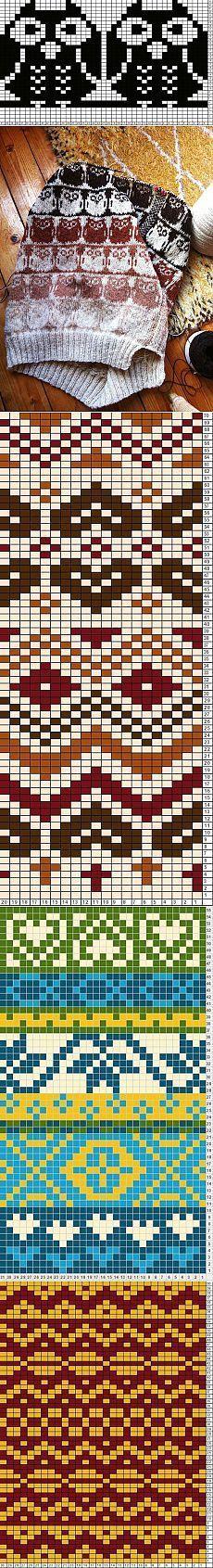 current Images knitting charts owl Style жаккард Most current Images knitting charts owl Style жаккард ВЯЗАНИЕ ДЛЯ СУМАСШЕДШИХ / Снимка 67 - Burda 2018 - svetlyachoks Owl Crochet Chart pattern by Agnes Barton annadrianna — «Pattern Libra. Fair Isle Knitting Patterns, Fair Isle Pattern, Knitting Charts, Loom Knitting, Knitting Stitches, Knitting Designs, Knitting Projects, Hand Knitting, Knitting Ideas